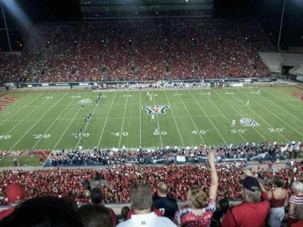 Arizona Stadium, secção: 205, fila: 7, lugar: 26