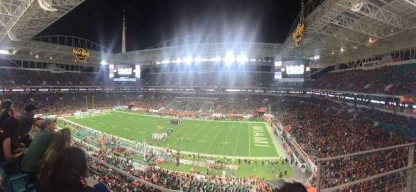 Hard Rock Stadium, secção: 315, fila: 2, lugar: 1