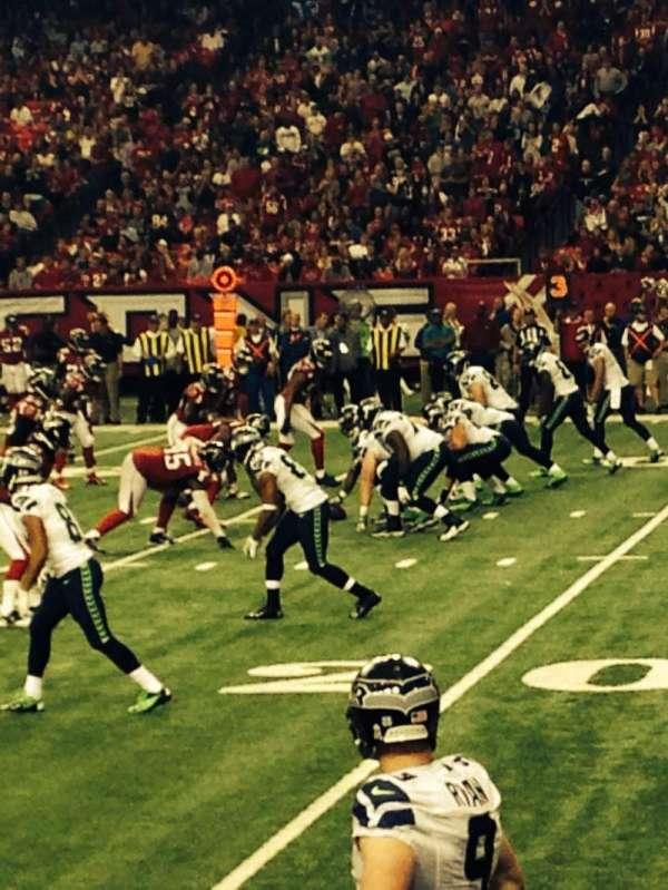 Georgia Dome, secção: 133, fila: 3, lugar: 17
