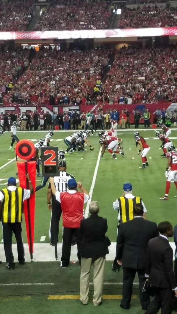 Georgia Dome, secção: 133, fila: 3, lugar: 3