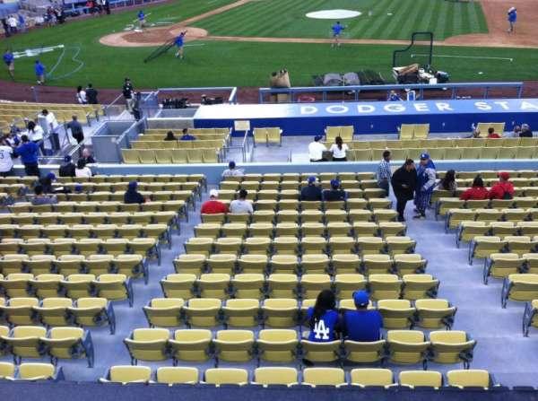 Dodger Stadium, secção: 132LG, fila: A, lugar: 1