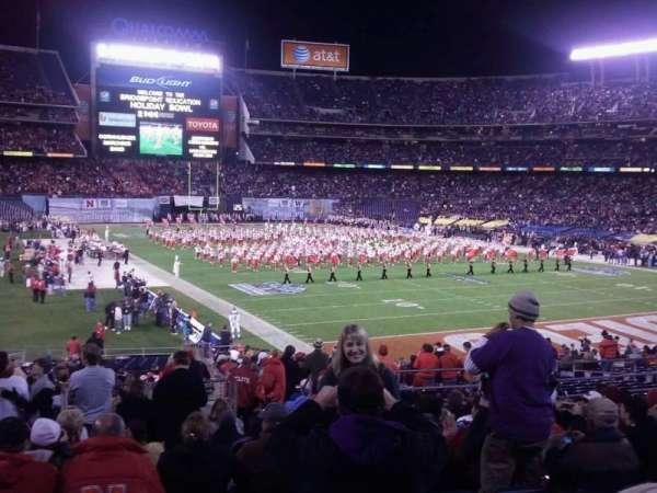 San Diego Stadium, secção: F14, fila: 8