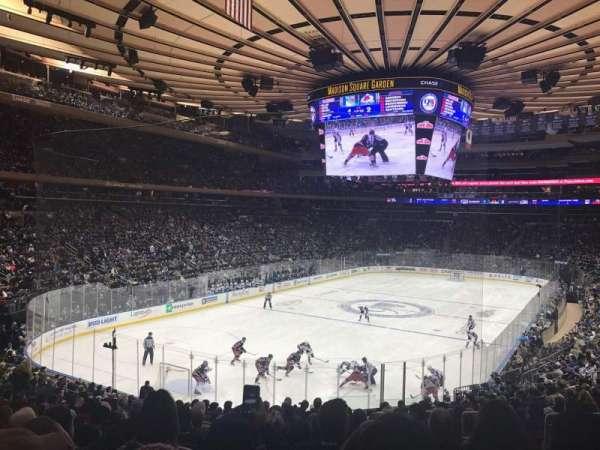 Madison Square Garden, secção: 113, fila: 21, lugar: 19