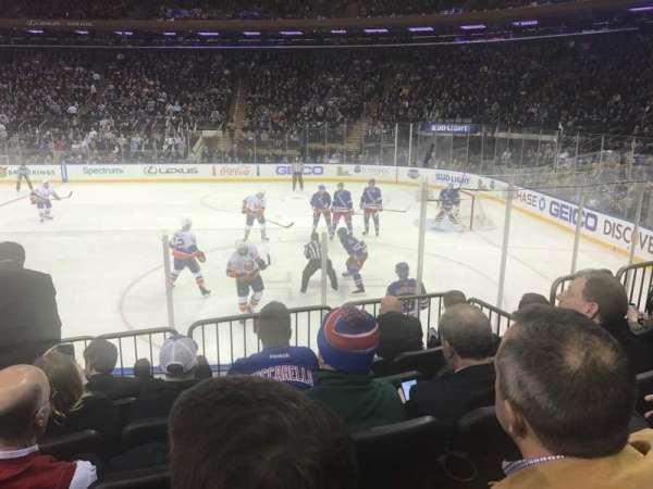 Madison Square Garden, secção: 109, fila: 7, lugar: 5