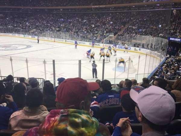 Madison Square Garden, secção: 110, fila: 11, lugar: 13