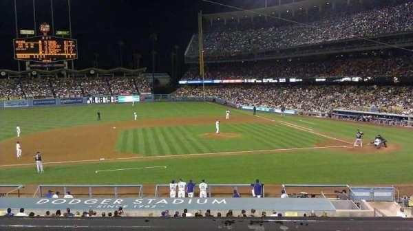 Dodger Stadium, secção: 131LG, fila: B, lugar: 3