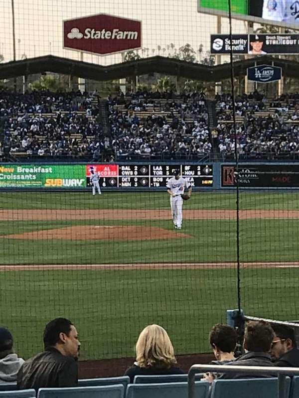 Dodger Stadium, secção: 12FD, fila: B, lugar: 1