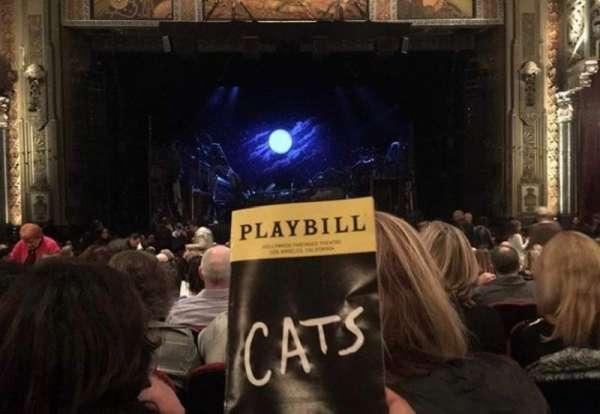 Hollywood Pantages Theatre, secção: Orchestra Center, fila: Y, lugar: 108