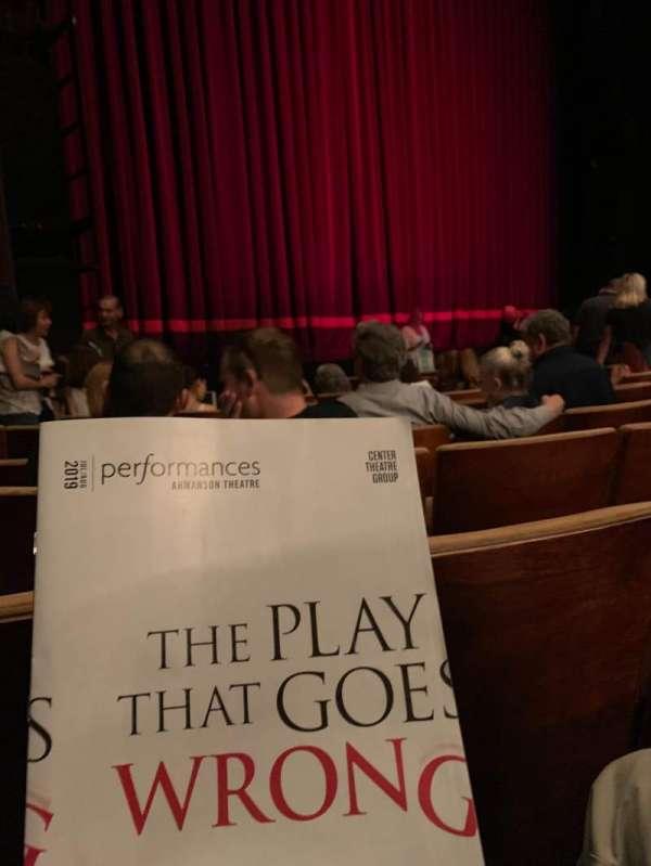 Ahmanson Theatre, secção: Orchestra left, fila: G, lugar: 39