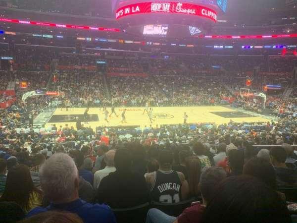Staples Center, secção: 102, fila: 20, lugar: 5