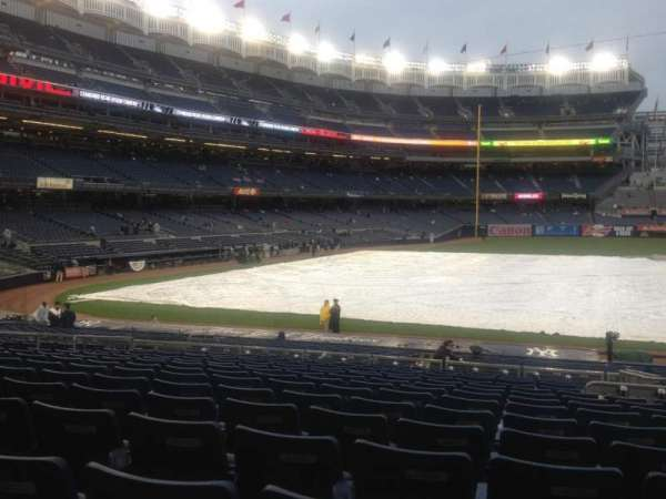Yankee Stadium, secção: 116, fila: 25, lugar: 4