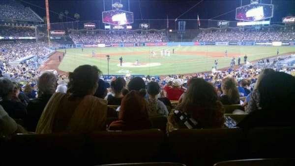 Dodger Stadium, secção: 4FD, fila: W, lugar: 6