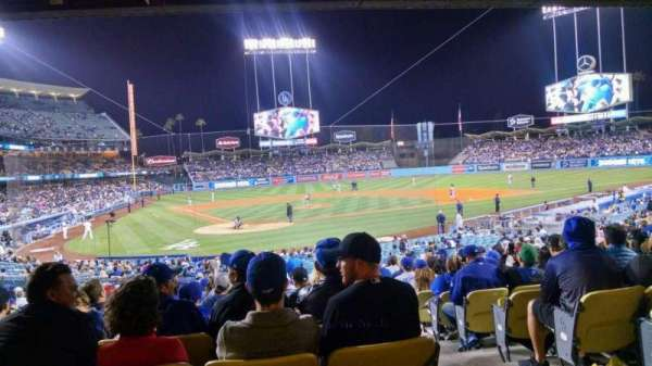 Dodger Stadium, secção: 6FD, fila: W, lugar: 12