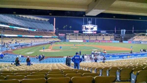 Dodger Stadium, secção: 10FD, fila: X, lugar: 11