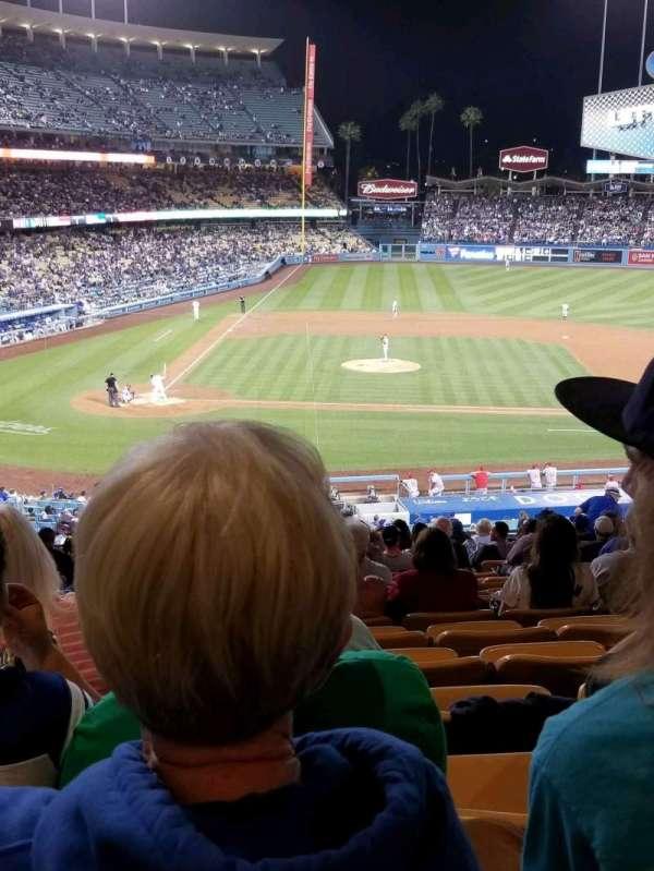 Dodger Stadium, secção: 126LG, fila: S, lugar: 2