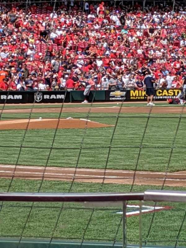 Great American Ball Park, secção: 131, fila: G, lugar: 2