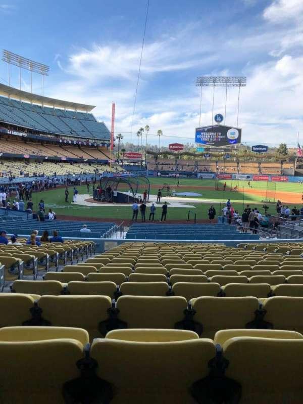 Dodger Stadium, secção: 10FD, fila: U, lugar: 3