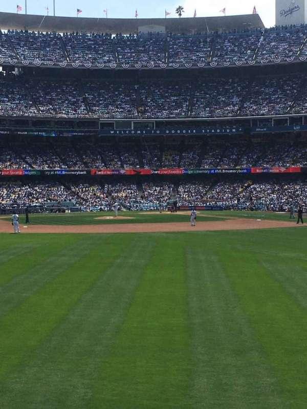 Dodger Stadium, secção: 307PL, fila: D, lugar: 7
