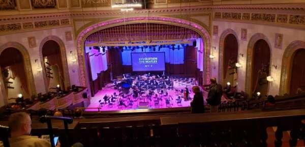 Orchestra Hall, secção: M3, fila: L, lugar: 13