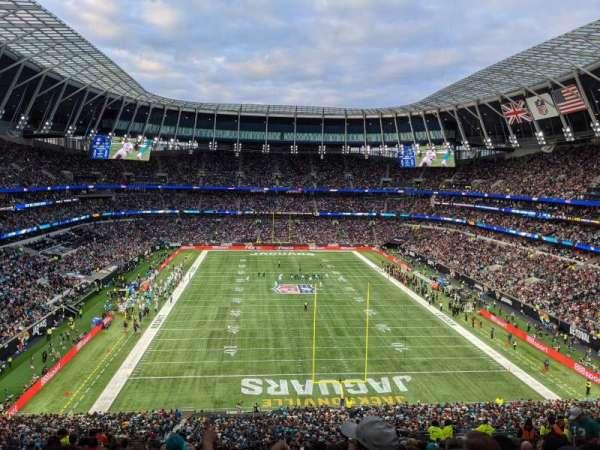 Tottenham Hotspur Stadium, secção: 453, fila: 58, lugar: 238