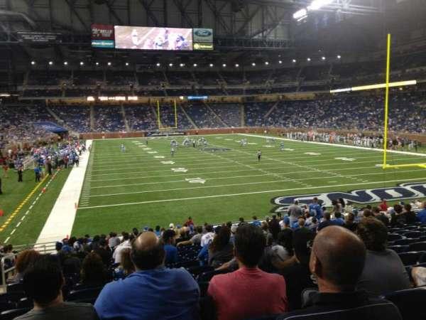 Ford Field, secção: 115, fila: 21, lugar: 3
