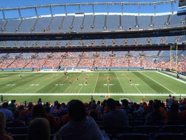 Broncos Stadium at Mile High, secção: 121, fila: 38, lugar: 13