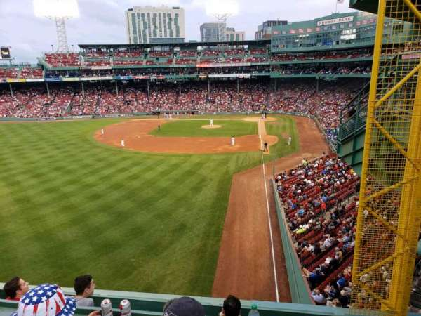 Fenway Park, secção: Green Monster 1, fila: 3, lugar: 2