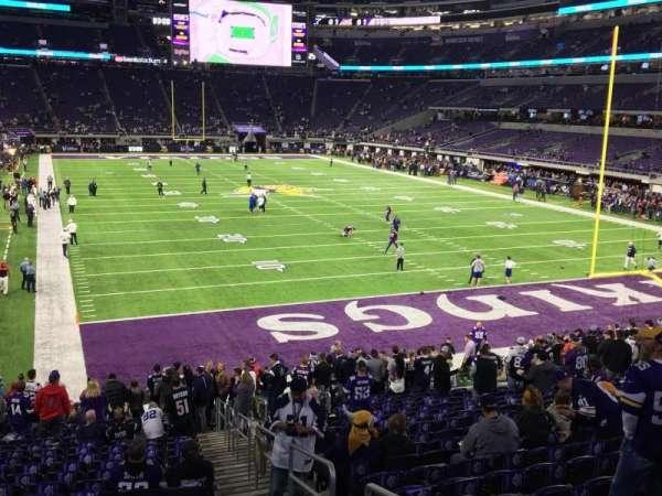 U.S. Bank Stadium, secção: 101, fila: 21, lugar: 1 and 2