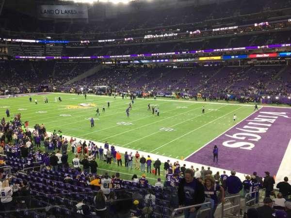 U.S. Bank Stadium, secção: 124, fila: 19, lugar: 30