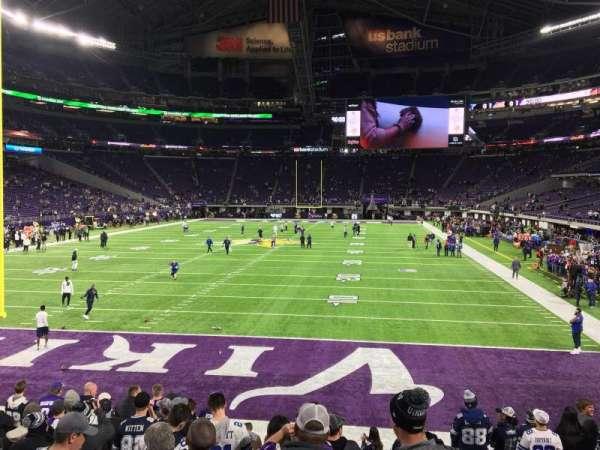 U.S. Bank Stadium, secção: 140, fila: 10, lugar: 17