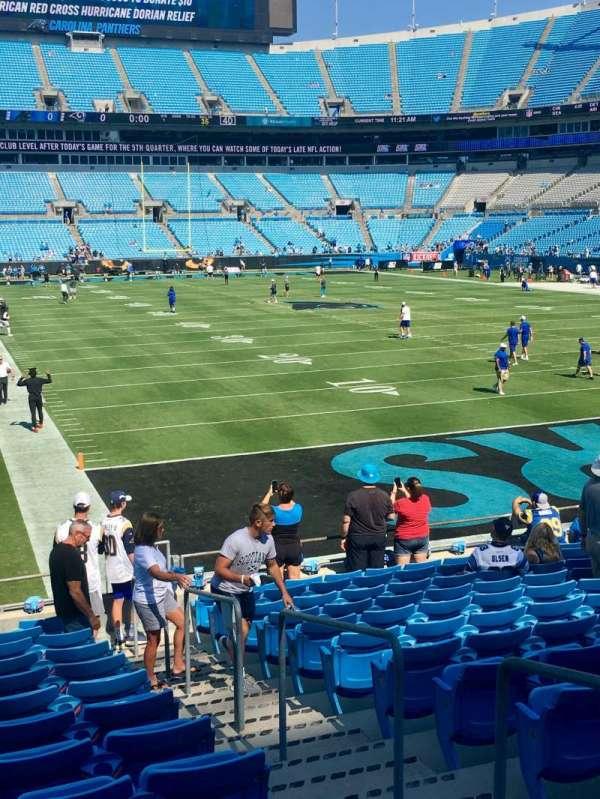Bank of America Stadium, secção: 124, fila: 14, lugar: 2