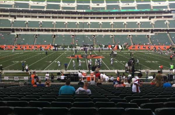 Paul Brown Stadium, secção: 110, fila: 21, lugar: 19
