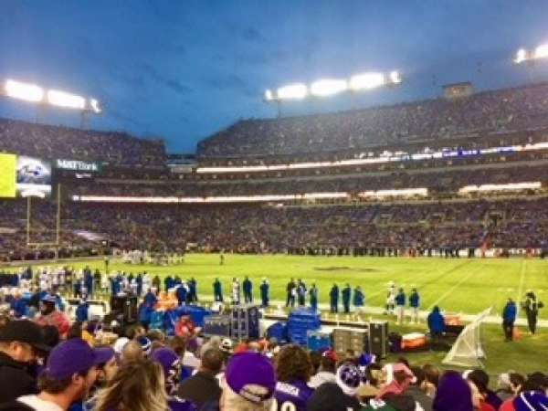 M&T Bank Stadium, secção: 152, fila: 13, lugar: 11