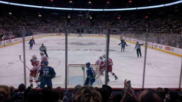 Rogers Arena, secção: 111, fila: 8, lugar: 110