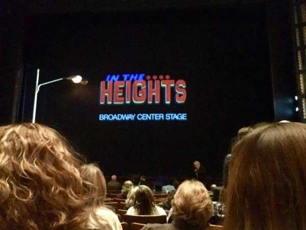 The Kennedy Center Eisenhower Theater, secção: ORCH, fila: N, lugar: 107