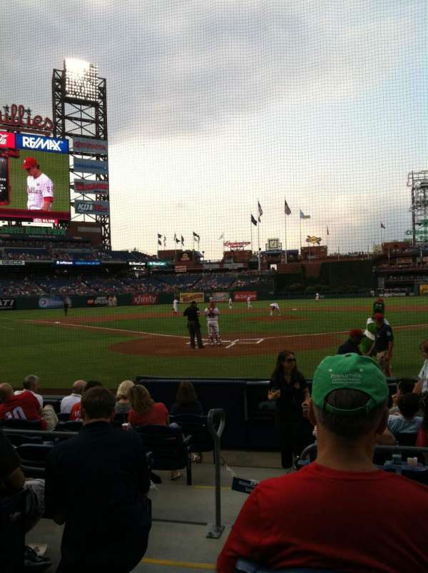 Citizens Bank Park, secção: E, fila: 2