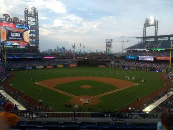 Citizens Bank Park, secção: 222, fila: 5, lugar: 7