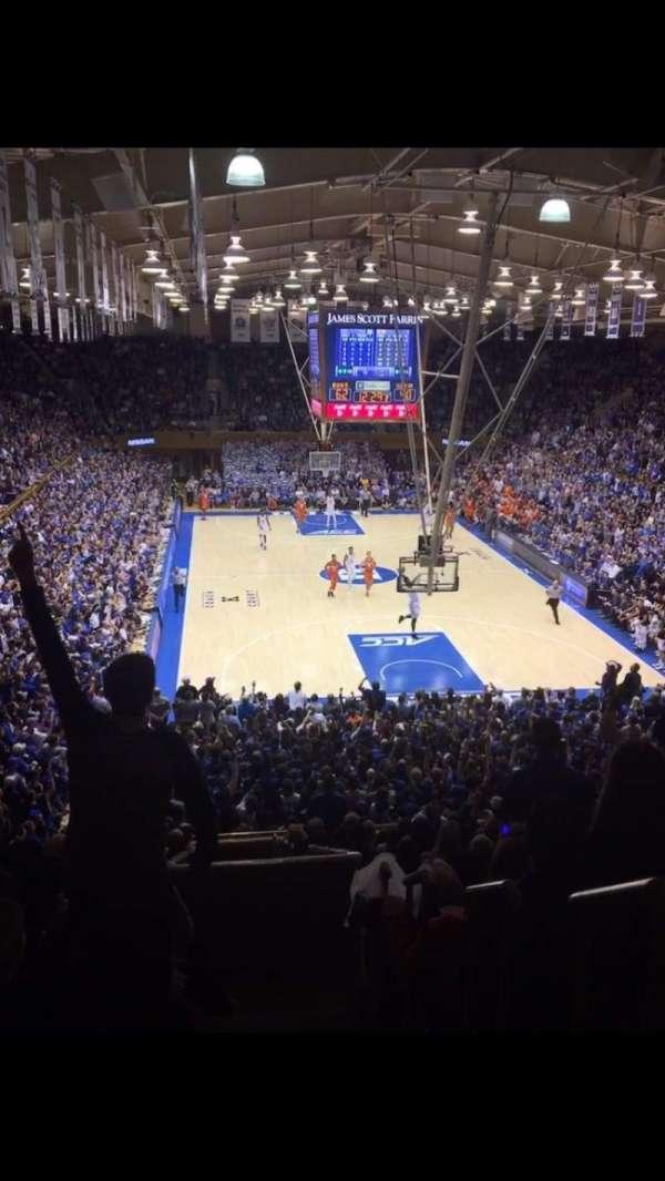 Cameron Indoor Stadium, secção: 2, fila: O, lugar: 2