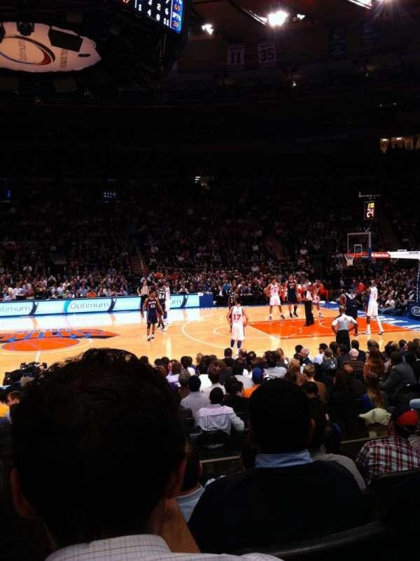 Madison Square Garden, secção: 117, fila: 6, lugar: 12