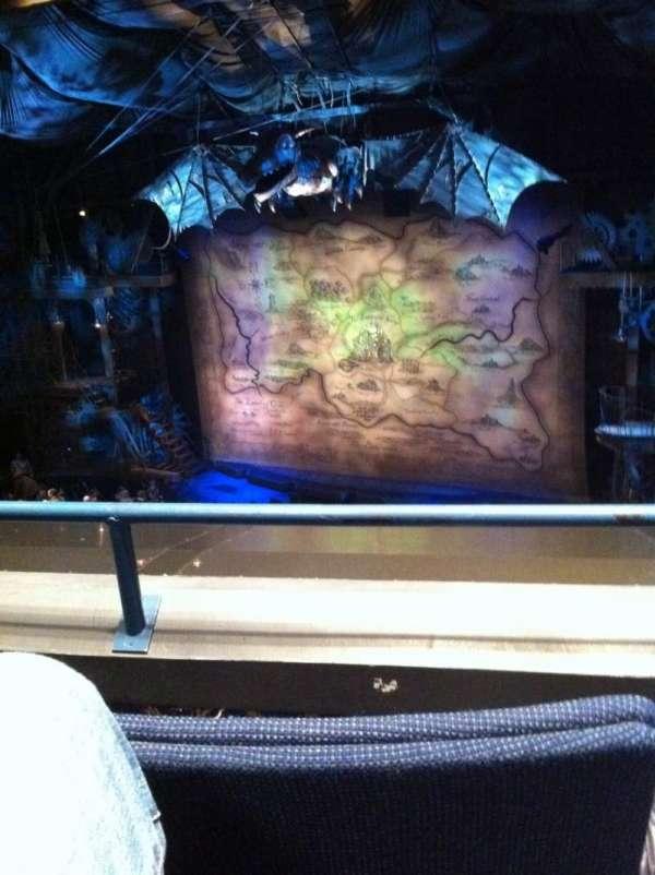 Gershwin Theatre, secção: Front Mezzanine R, fila: B, lugar: 10