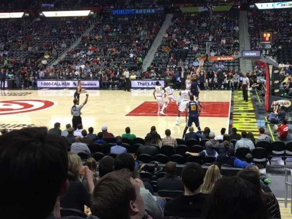 State Farm Arena, secção: 103, fila: L, lugar: 1