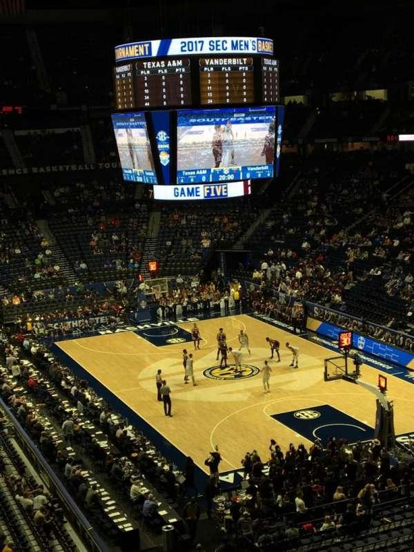 Bridgestone Arena, secção: 315, fila: E, lugar: 4