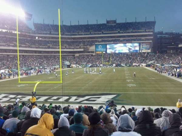 Lincoln Financial Field, secção: 132, fila: 17, lugar: 18