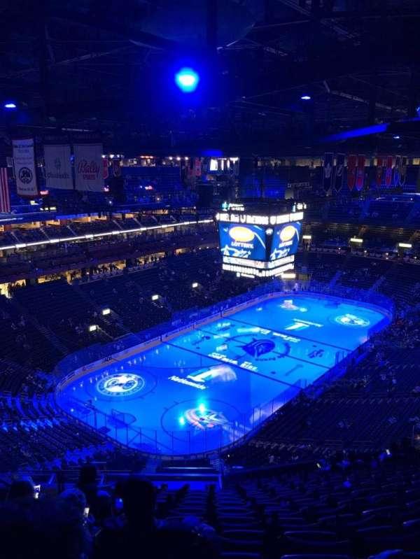 Nationwide Arena, secção: 207, fila: Q, lugar: 21
