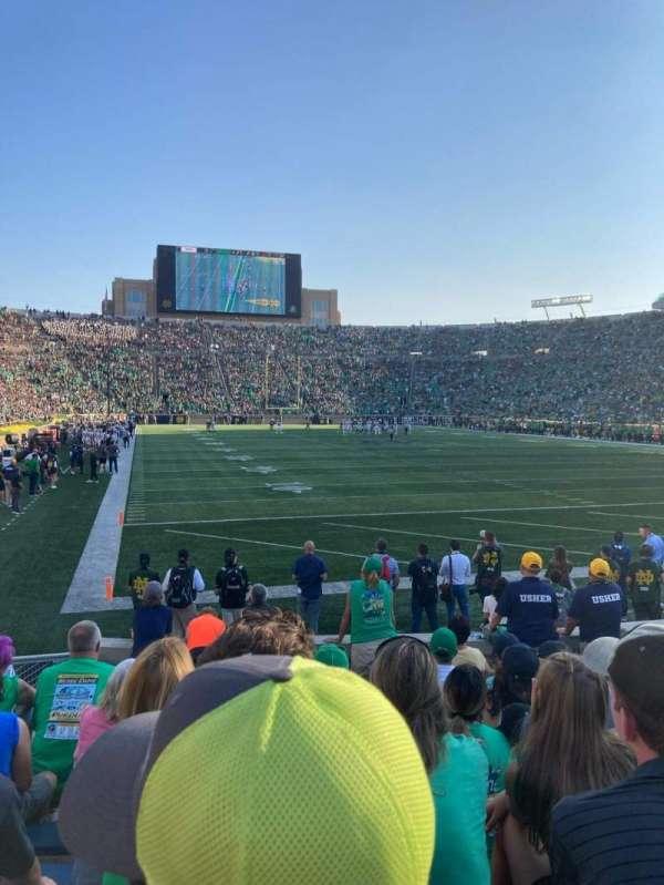 Notre Dame Stadium, secção: 3, fila: 12, lugar: 7