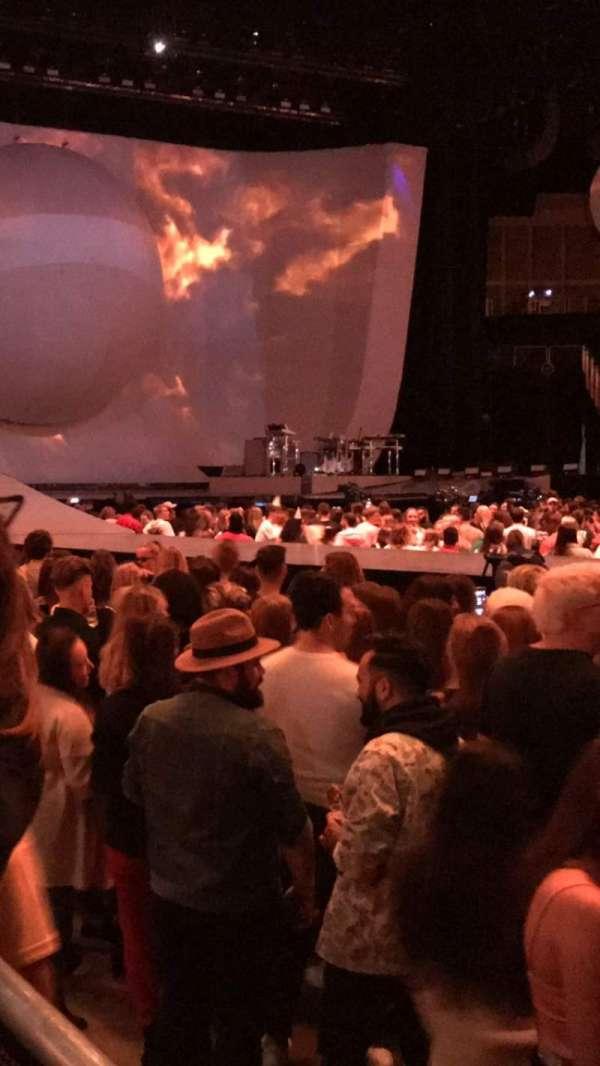The O2 Arena, secção: W, fila: 1, lugar: 101