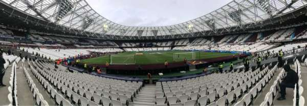 London Stadium, secção: 119, fila: 13