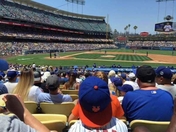 Dodger Stadium, secção: 16FD, fila: S, lugar: 6