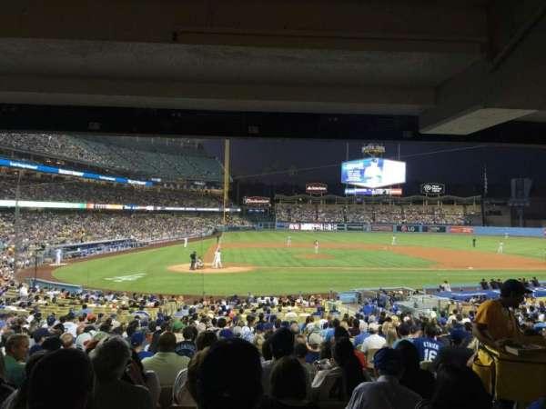 Dodger Stadium, secção: 10FD, fila: X, lugar: 10