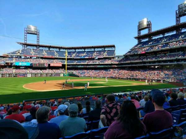 Citizens Bank Park, secção: 133, fila: 24, lugar: 5